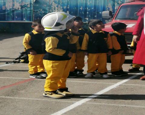 برگزاری اردوی آتشنشانی